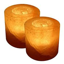 Himalayan Salt Lamp - Cylinder Tea Light Holder